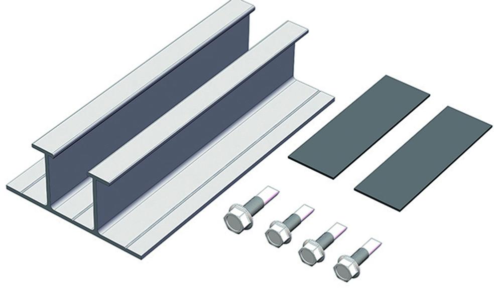 Metal Roof Solar Energy Aluminum Profile Rail