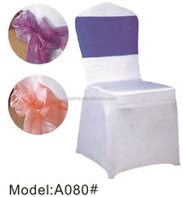 organza sash spandex chair cover A080