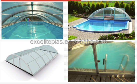 Safety thermal winter pool covers model a 3 6m above for Plexiglass pool enclosure