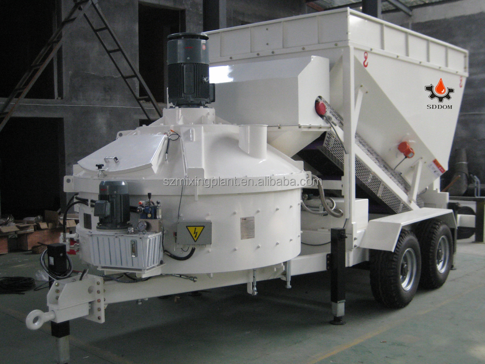 Mini Concrete Batch Plant : Ready mixed mini small mobile concrete batching plant for
