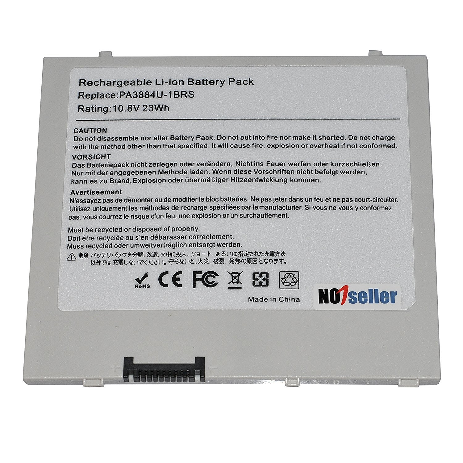 "Toshiba Thrive Pad Battery, No1seller 23WH 10.8V replacement battery for Toshiba Thrive 10"" 10.1"" 7 Pad Tablet At105 Series laptop Pa3884u-1brr Pa3884u-1brs Pa3966u-1ead Pabas243"