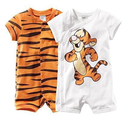 free drop shipping baby short sleeve cartoon tiger romper infant rompers boy s girl s Wear