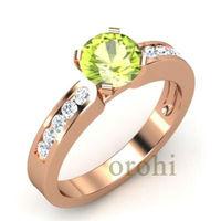 Hg51-citrine-light Weight 9ct Yellow Gold Diamond Engagement Ring ...