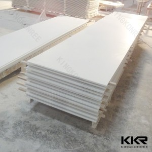 Faux stone solid surface brick wall panels ,good quality white resin stone