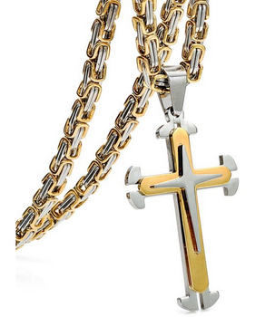 2017 byzantine newest jewelry gold large 316l stainless steel 2017 byzantine newest jewelry gold large 316l stainless steel cross pendants necklace mozeypictures Gallery