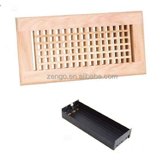 Egg Crate Wooden Floor Grille Hvac Air