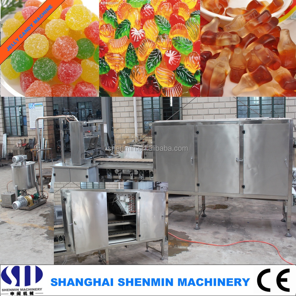 50kg/h small capacity gelatin/pectin/gummy/bear jelly candy making machine