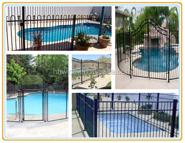 Retractable pool fence removable for europe