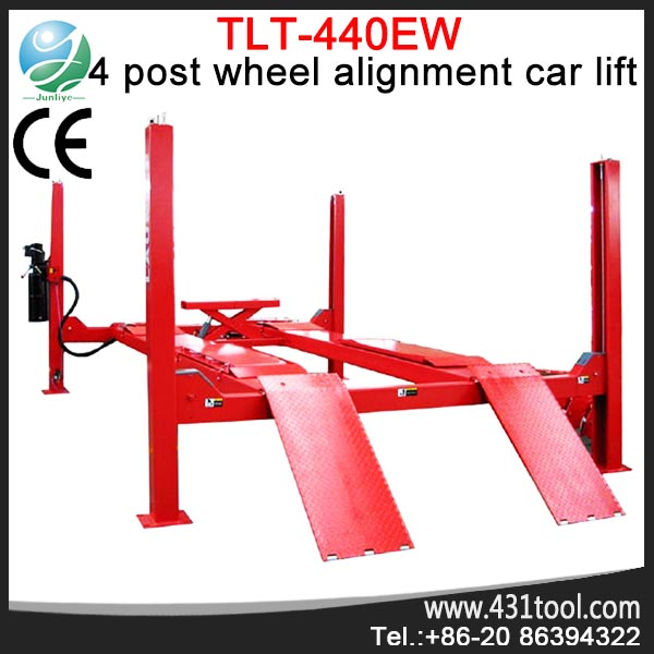 4 Post Wheel Alignment Auto LAUNCH car hoist T440W four post hydraulic ramps for cars