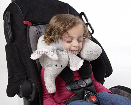 Kussen Voor Peuter : Kid s hals ondersteuning kussen olifant grey peuter autostoel