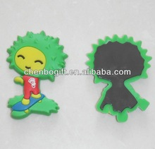 Custom made cartoon shape flexible rubber magnet for fridge , soft pvc fridge magnet