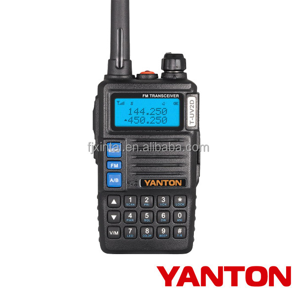 Portable dual band LCD display vhf walkie talkie radio set(YANTON T-UV2D )