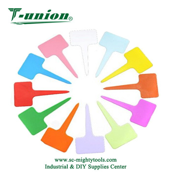 Plastic Waterproof Plant Nursery Garden Labels T Type Tags Markers Stakes Re Usable