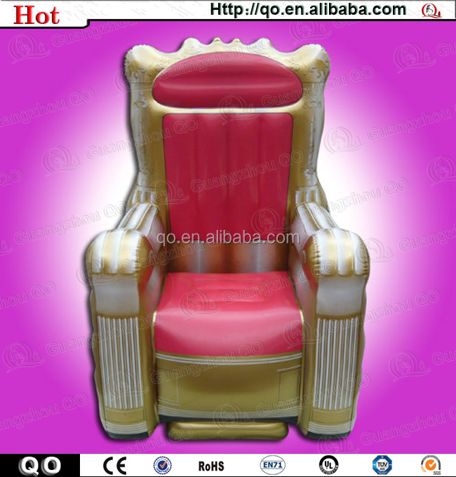 Pink Inflatable Throne Chair