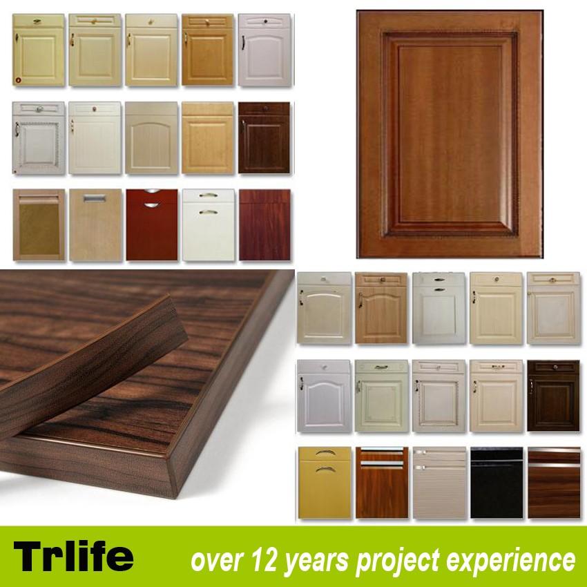 Buy Kitchen Cabinet Doors: Italian Project Pvc Door Finish Wooden Kitchen Cabinet
