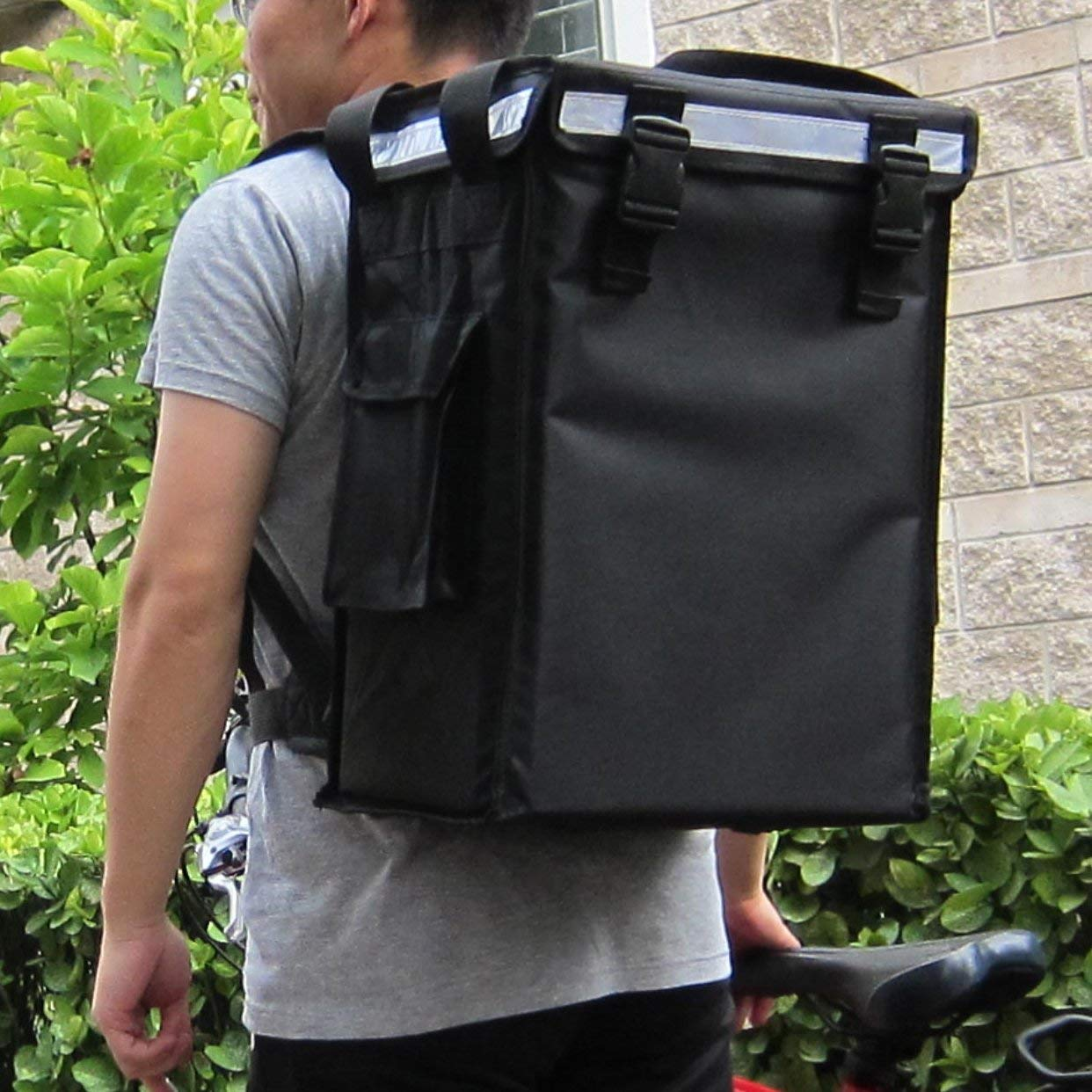 Hot food delivery carry backpack bike food delivery bag