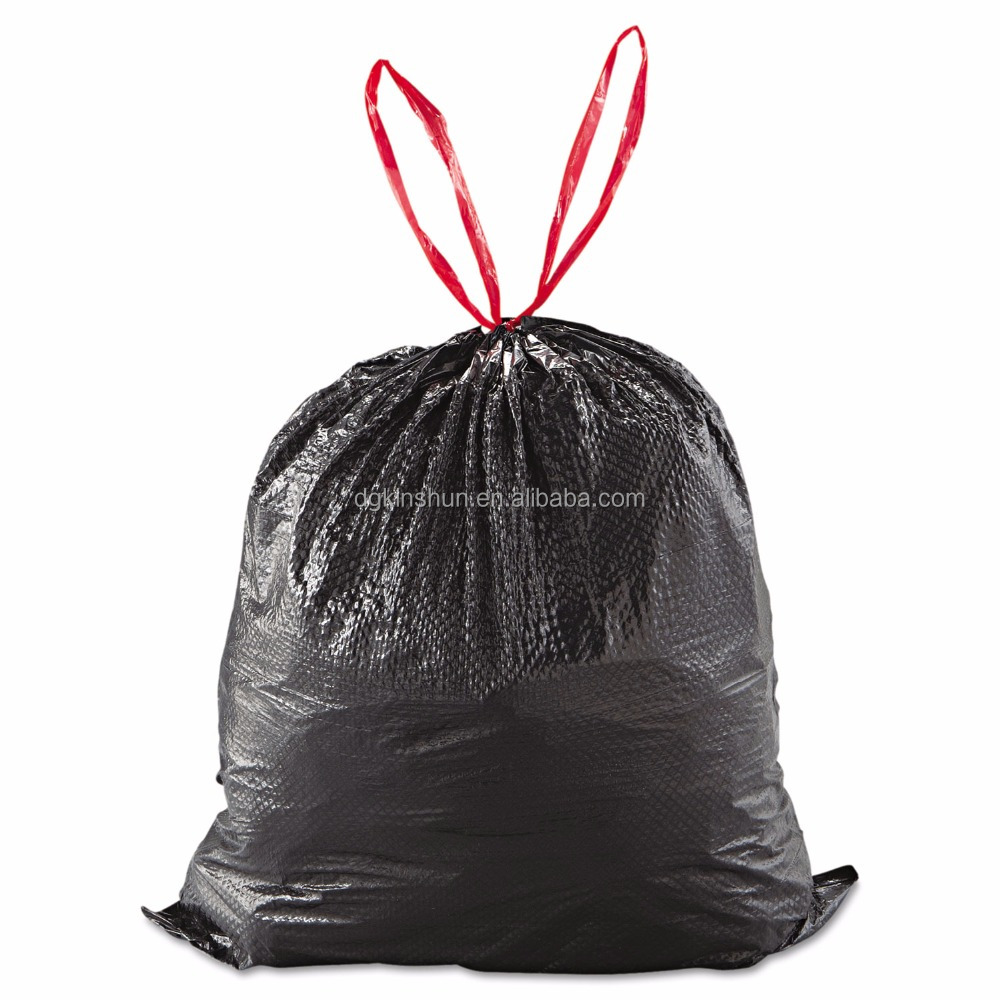 Ldpe Customized Plastic Garbage Bags 13 Gallon Drawstring Trash Bag Low Price