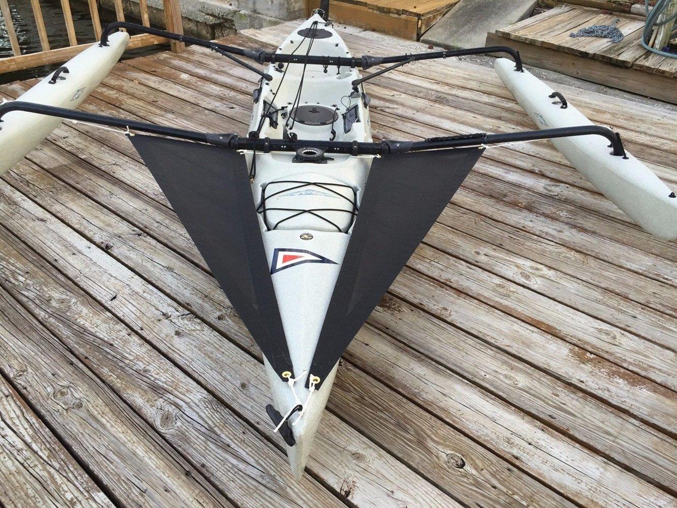 Hobie Adventure Island Kayak Trampoline set Black Grey mesh 2014 and Older