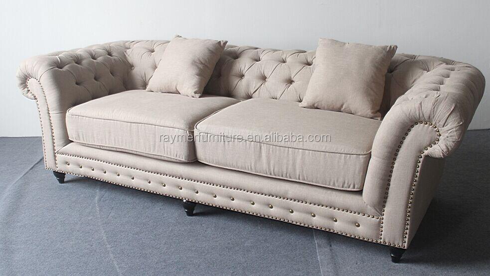 Upholstered Fabric Sofa Set Chesterfield Sofa,fabric Tufted Sofa  Sets,discount Sofa Set