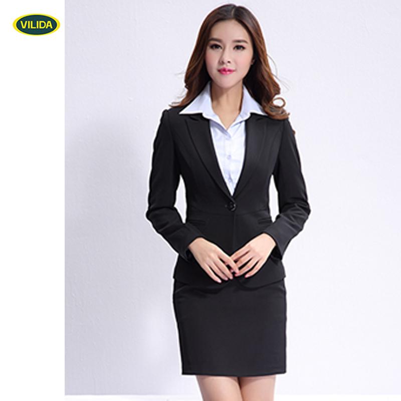 OEM las mujeres modernas traje de negocios con las señoras 3 unidades trajes  para mujeres traje 50e152d1f109