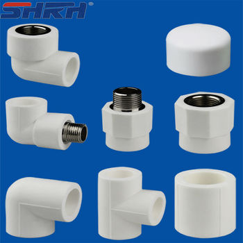 The Green Color Plastic All Types Of Ppr Pipe Fittings