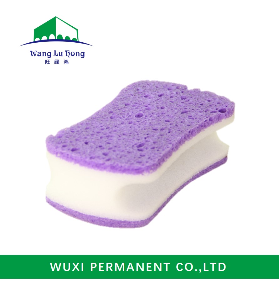 Wholesale wet cellulose sponge scourer for kitchen cleaning