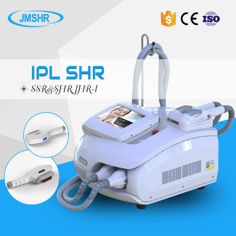 Portable IPL SHR Hair Removal Machine with Dual Headpiece ce approved for sale