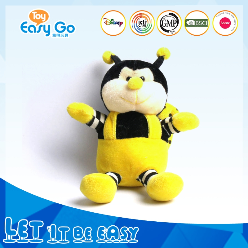 Vivid stuffed animal soft plush bumble bee toys for baby