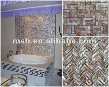Ms015ir Natural Iridescent Freshwater Mop Shell Mosaic Tile Sheet Bathroom Tiles