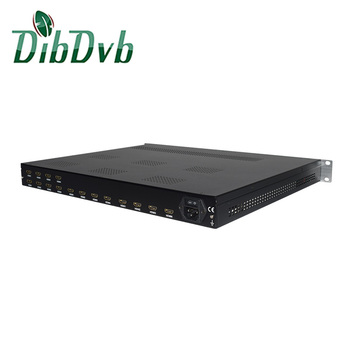 16 chs hd to ip encoder h.264 multiplexer to dvb-t modulator
