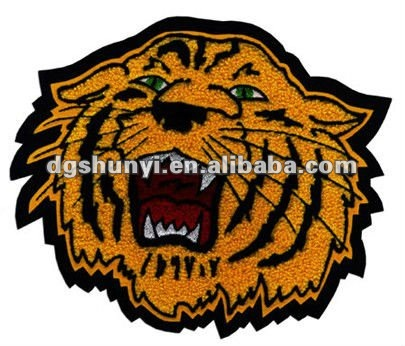 chenille tiger embroidery badge