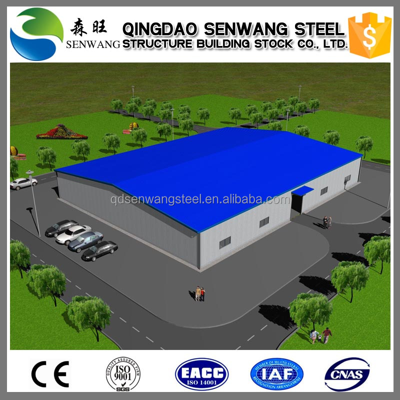 high quality super market used steel structure warehouse