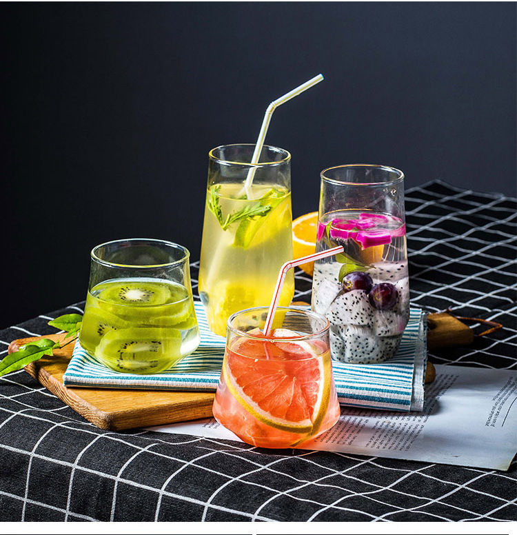 Mouth Blown Thermal Borosilicate Glass Juice Cup