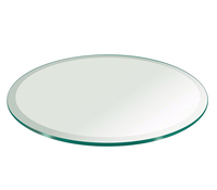 Round glass table tops / transparent tempered glass promotional products in stock