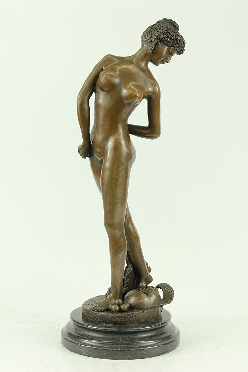 "...Handmade...European Bronze Sculpture Signed Gerome ""The Ballplayer"" Nude Girl (1X-DS-254) Bronze Sculpture Statues Figurine Nude Office & Home Décor Collectibles Sale Deal Gifts"