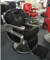 2016 High quality barber chair with fiber glass armrest;big recline barber chair for man