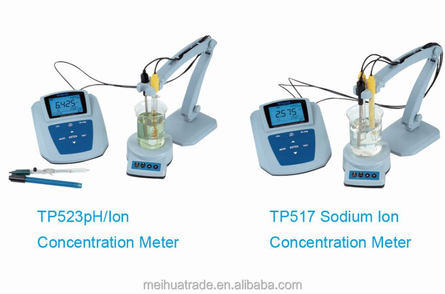 High Quality pH Tester Sodium/Calcium/Fluoride Ion Concentration Meter