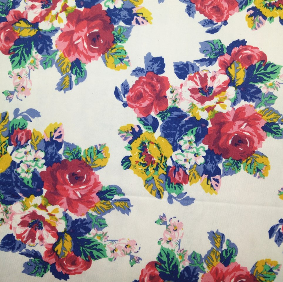 3D flower polyester spandex fabric
