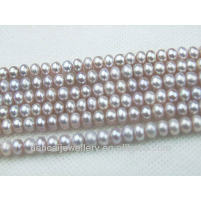 WHOLESALE! ROUND NATURAL COLOR FW PEARL chain 16inches length