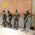 China Suppliers New Product Metal Bronze Statue Life Size Action Figure Play Guitar Sculpture
