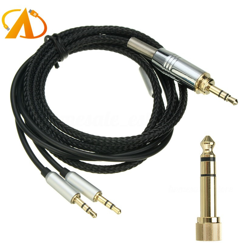 Replacement Cable 2M 3.5mm to <strong>2</strong> x <strong>2</strong>.5mm Cable For Hifiman HE400S/HE-400I/HE560/HE-350/HE1000/HE1000 <strong>V2</strong>