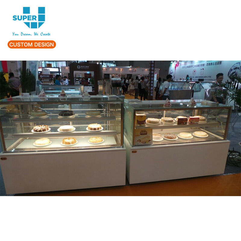 Custom Made Commercial Cake Display Cabinet Counter