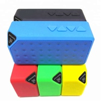 HOT mini BT Speaker X3 Fashion Style TF USB Wireless Portable Music Sound Box Subwoofer Loudspeakers with Mic