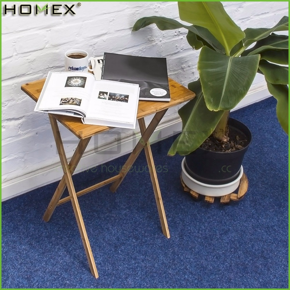 Solid Bamboo Folding Dinner Table/Outdoor Snack and Coffee Table/Homex_FSC/BSCI Factory