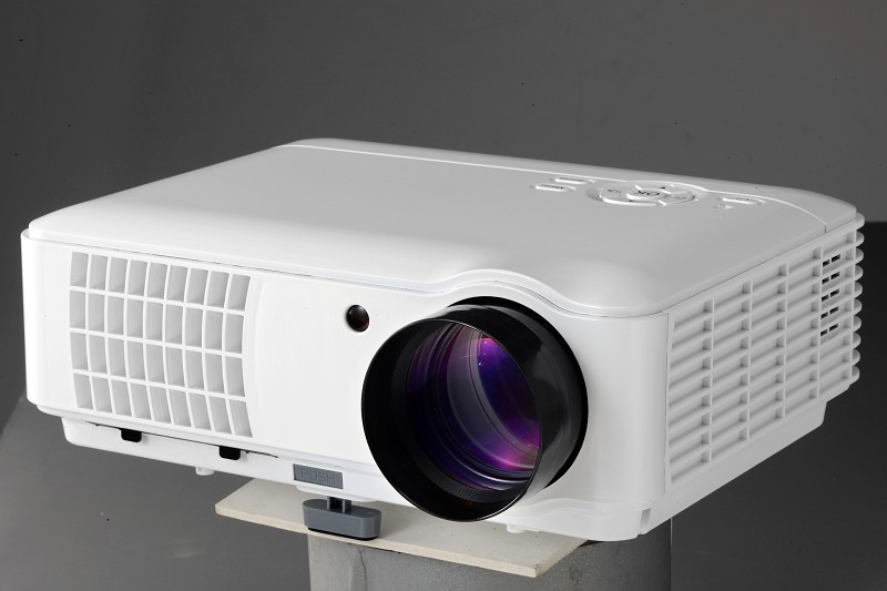 1280*800, LED High Brightness Projector with WIFI for Business/Home