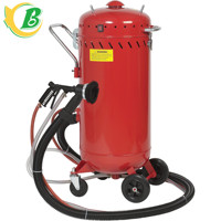 CE portable sandblasting machine, sandblaster, blasting pot,28 Gallon vacuum sand blasting machine for sale