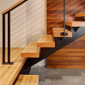 High Safety Anti Slip Solid Acaxia Wood Stairs Treads For Modern Residential  Staircase