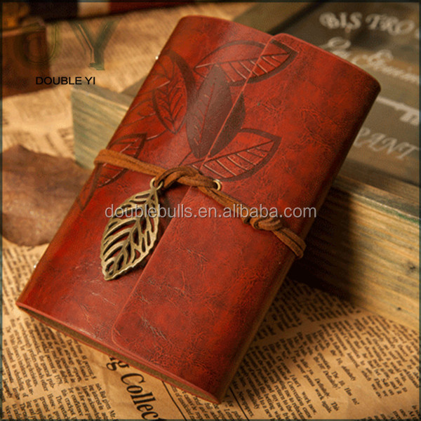 custom retro artificial leather England style notebook as a good gift