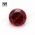 hot sale round machine cut artificial corundum ruby price