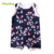 Wholesale Summer Cotton Allover Printed Newborn Infant Baby Romper